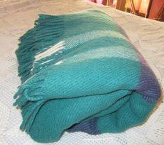 Teal Landau Wool Blanket by heydarlin on Etsy, $98.00