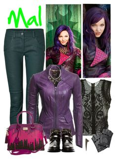 """""""Mal, daughter of Maleficent."""" by supercalifragilistica ❤ liked on Polyvore"""