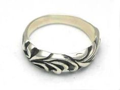 Valuable Ring Ssr007 Bloody Silver Dark Curves New | Know If Chrome Hearts Jewelry Fake