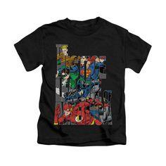 Justice League - Lettered League Kids T-Shirt