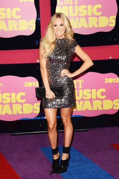 Carrie Underwood at the 2012 CMT Music Awards @CMT (Getty Images)