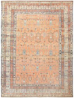 Click here to learn more about this fabulous antique Persian Malayer rug, which is currently available for sale through Nazmiyal Collection. Size: 10 ft 8 in x 14 ft 7 in
