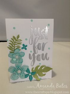 The Craft Spa - Stampin' Up! UK independent demonstrator : Botanical Blooms in Blues...
