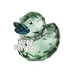 Swarovski Crystal Happy Birthday Duck: Click for more details
