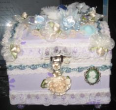 shabby chic jewelry box by diane Stringer sold