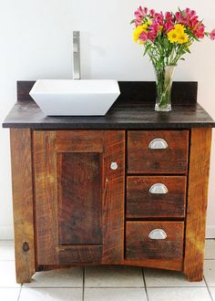 LOVE THIS!!!    Handmade Bathroom Vanity Reclaimed Barn by thesummeryumbrella, $980.00