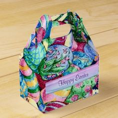 Happy Easter Painted Easter Eggs Gable Favor Box
