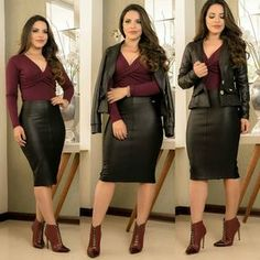 Lovely Ladies in Leather: January 2020 Lovely Ladies in Leather: January 2020 Chignons how _ chignons facile, chignons flou, chignons mariage, chignons tresse. Tight Leather Pants, Leather Mini Skirts, Leather Skirt, Jw Moda, Skirt Outfits, Cute Outfits, Look Office, Shiny Leggings, Leather Fashion