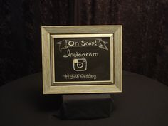 Small Chalkboard, Teal/Grey Frame Available to Rent! www.gycrentals.com