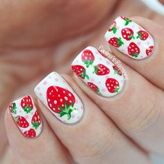 Stunning Fruit Nail Art Ideas That Refresh Your Summer 13 - Fashion trends change from time to time and there is no end to the innovative nail art designs and accessories that are used to beautify nails. Fruit Nail Designs, Best Nail Art Designs, Nail Designs Spring, Toe Nail Designs, Nails Design, Cute Nail Art, Cute Nails, Spring Nails, Summer Nails