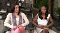 Jordyn Wieber and Gabby Douglas chat with Access Hollywood