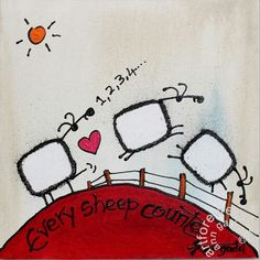 Every sheep counts Counting, Sheep, Ann, Snoopy, Fictional Characters, Fantasy Characters