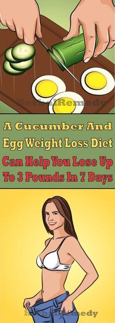 A Cucumber And Egg Weight Loss Diet Can Help You Lose Up To 3 Pounds In 7 days