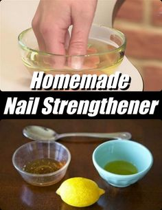 DIY – HOMEMADE NAIL STRENGTHENER We all want strong, thick, and beautiful nails, but simply going about our lives can become a minefield of potentially nail-damaging situations.In some cases, weak nails may even show signs of yellowing and discoloration. Exposure to chemicals, outdoor elements and excessive amounts of water can weaken your nails by robbing …