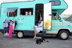 Inside the Wanderlust Factory mobile fashion boutique...  www.wanderlustfactory.com #fashiontrucks #fashiontruck #mobileboutique #boutiqueonwheels #gypsy #caravan #boutique #shopping #bohemian #diy