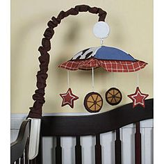 @Overstock - Decorate your baby's room with this musical mobile. This accessory will keep your baby visually stimulated while they're awake and help lull them to sleep with a lullaby tone. http://www.overstock.com/Baby/Western-Cowboy-Horse-Musical-Mobile/5289291/product.html?CID=214117 $30.54