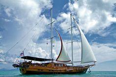 NAGA in front of Koh Som near Koh Samui - Picture of Boutique Yachting - Day Cruises & Private Charters, Bophut - TripAdvisor Ko Samui, Samui Thailand, Surat Thani, Luxury Travel, Kos, Sailing Ships, Trip Advisor, Cruises, Boutique
