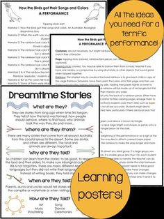 Australian Aboriginal Dreamtime Story: How the. by Liz's Early Learning Spot