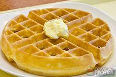 Receita de Waffle doce em receitas de biscoitos e bolachas, veja essa e outras receitas aqui!