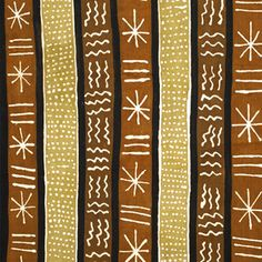 African Mud Cloth Fabric Painting - This pattern could be incorporated into clay pieces.