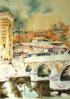 Old bridge named Seher-Cehajin in Old town-Sarajevo,Bosnia&Herzegovina