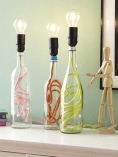 Perfect Flaschenlampen selber machen So einfach geht us