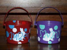 Custom Easter Buckets by TheBirdsNestStore on Etsy, $12.00
