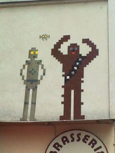 Paris--France--PA-10XX-6eme Space Invaders, Paris France, Street Art, Mosaic, Mosaics, Mosaic Art