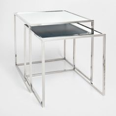 45 x 45 £119 GLASS NEST OF TABLES (SET OF 2) - Occasional Furniture   Zara Home United Kingdom