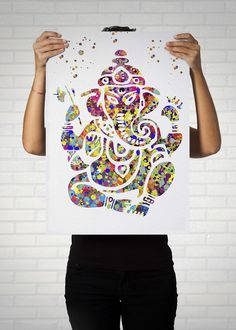 Illustrated by Poster Soul - Ganesha Watercolor Poster // Lord Ganesha Watercolor Art Print // Yoga Home Decor // Spiritual Art // Zen Decor // Zen Painting // Hindu Art. ► Available A4,A3,A2,A1► Printed on high quality, weather resistant, 220g glossy paper ► No Margin - Borderless Print. ► Print is ready for framing ► Listing is for the poster only - frame / mount and accessories are not included ► All posters are safely packaged in a clear protective sleeve and rolled within a tube to...