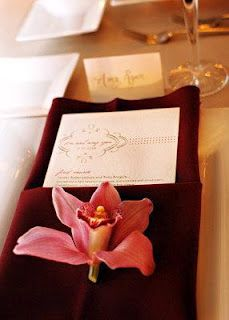 Wedding napkin decor