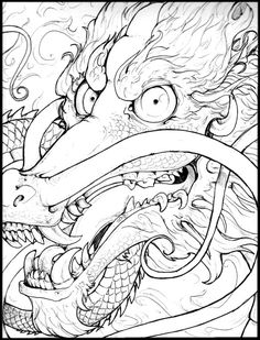 chinese dragon tattoo style by Anarchpeace.deviantart.com on @deviantART