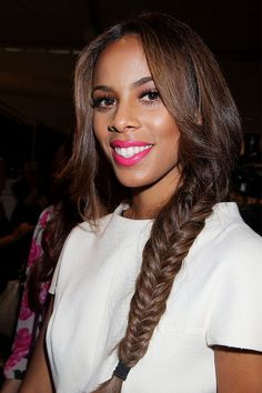 Rochelle Wiseman's perfect fishtail plait - celebrity hair and ...