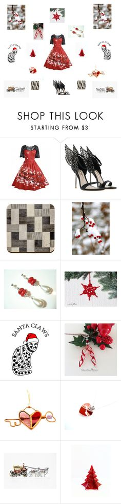 """Christmas party"" by einder ❤ liked on Polyvore featuring Department 56"