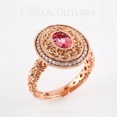 BELLA COUTURE ® - (NEW) BELLA COUTURE® Gorgeous Pink Tourmaline 1/5 CT Pave' Diamond 14K Rose Gold Ring , $1,050.00 (http://www.bellacouture.com/new-bella-couture-gorgeous-pink-tourmaline-1-5-ct-pave-diamond-14k-rose-gold-ring/)
