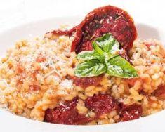 Risotto aux tomates séchées sans sel : http://www.fourchette-et-bikini.fr/recettes/recettes-minceur/risotto-aux-tomates-sechees-sans-sel.html