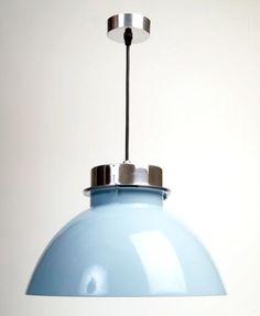 £69.99 Lucas Retro Pendant Light - Blue