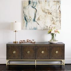 Shop Clarendon Entertainment Console from Bernhardt at Horchow, where you'll find new lower shipping on hundreds of home furnishings and gifts. Upholstered Furniture, Dining Room Furniture, Dining Rooms, Furniture Ideas, Soft Closing Hinges, Bernhardt Furniture, Furniture Companies, Entertainment Center, Sideboard