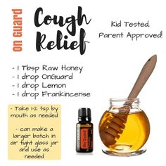 Natural cough relief for kids! OnGuard pure essential oil blend is a must!