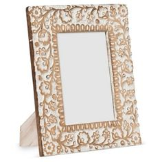 Check out this item at One Kings Lane! 5x7 Carved Wooden Frame, Gold