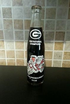 Collectors 1980 Georgia Bulldog's Championship CocaCola Bottle Vintage