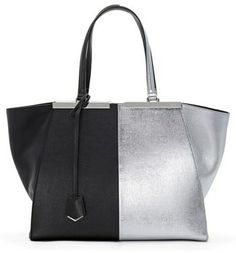 Fendi Bicolor Leather Shopper