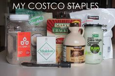My shopping list is extensive... so I thought I'd share what I buy at Costco in case you are wondering what is a good deal! (hint - everything).