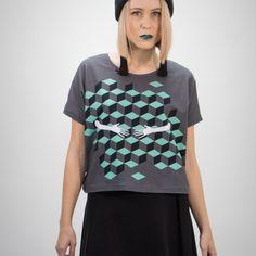 Cropped T-shirt Printed Leggings, Prints, T Shirt, Jewellery, Clothes, Tops, Women, Fashion, Supreme T Shirt