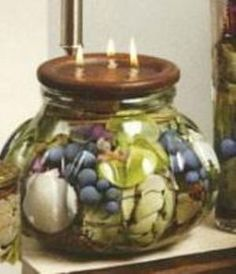 Our lifetime candles by white river designs are filled for Oil filled candlesticks