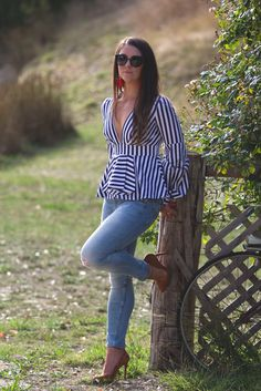 Stripes and ruffles.