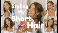 HOW I STYLE MY SHORT HAIR | Simple & Quick - YouTube