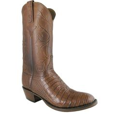 Lucchese Mens Caiman Boots - Cigar