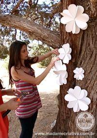 flores de papel decorar