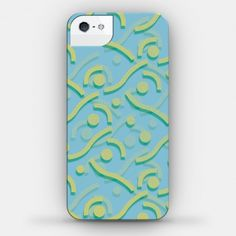 Yellow And Blue 90's Pattern #90s #90skid #pattern #phonecase #funky